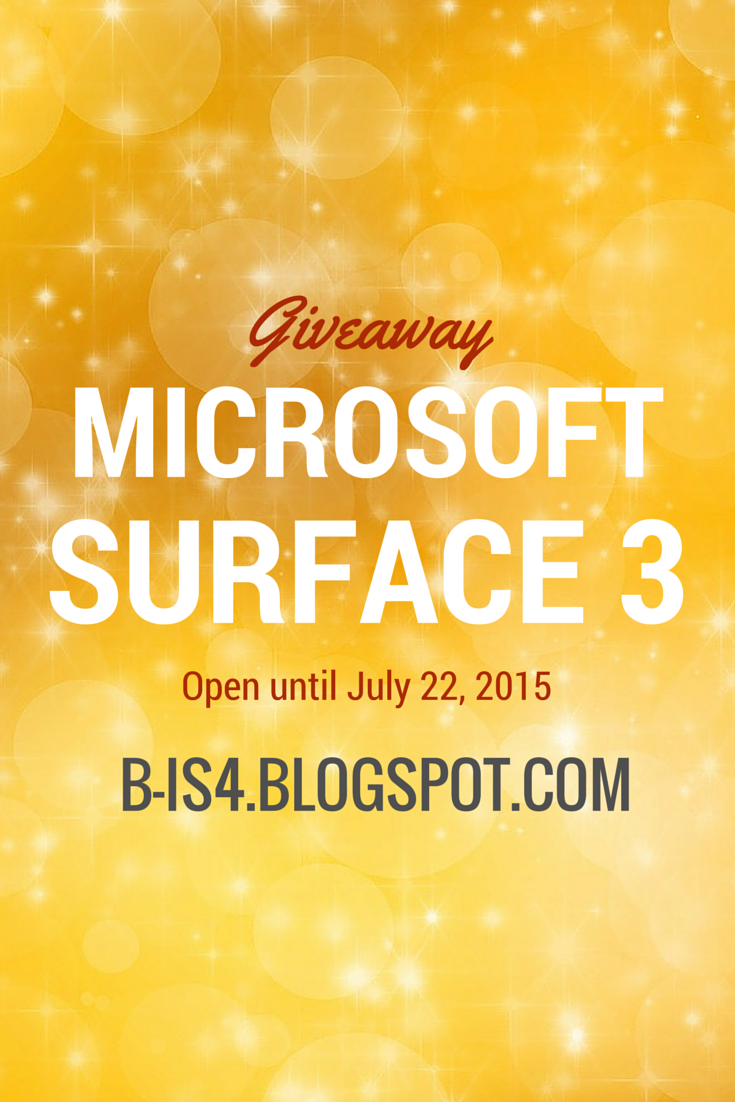 Current Giveaways: Microsoft Surface 3 Giveaway