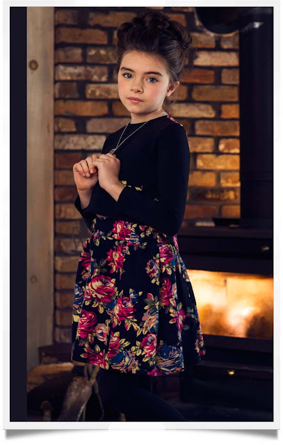 Charm Floral Crop Top & Skirt | Children's Clothing | Chichi Mary