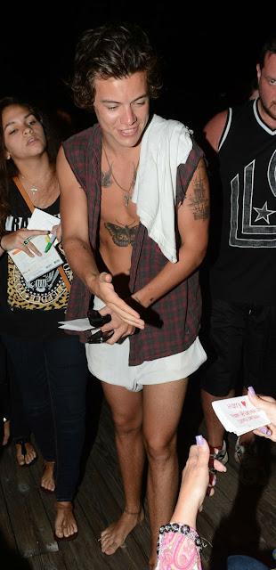 harry styles shirtless