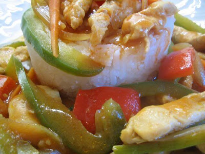 Thai recipe for bell peppers - Fried pork with bell peppers
