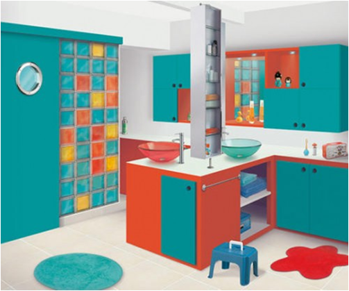 Bathroom Ideas For Young Boys  Modern Style Bathroom For A Young Boy