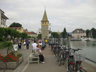 Bicycles parked at the harbor, Lindau, Germany
