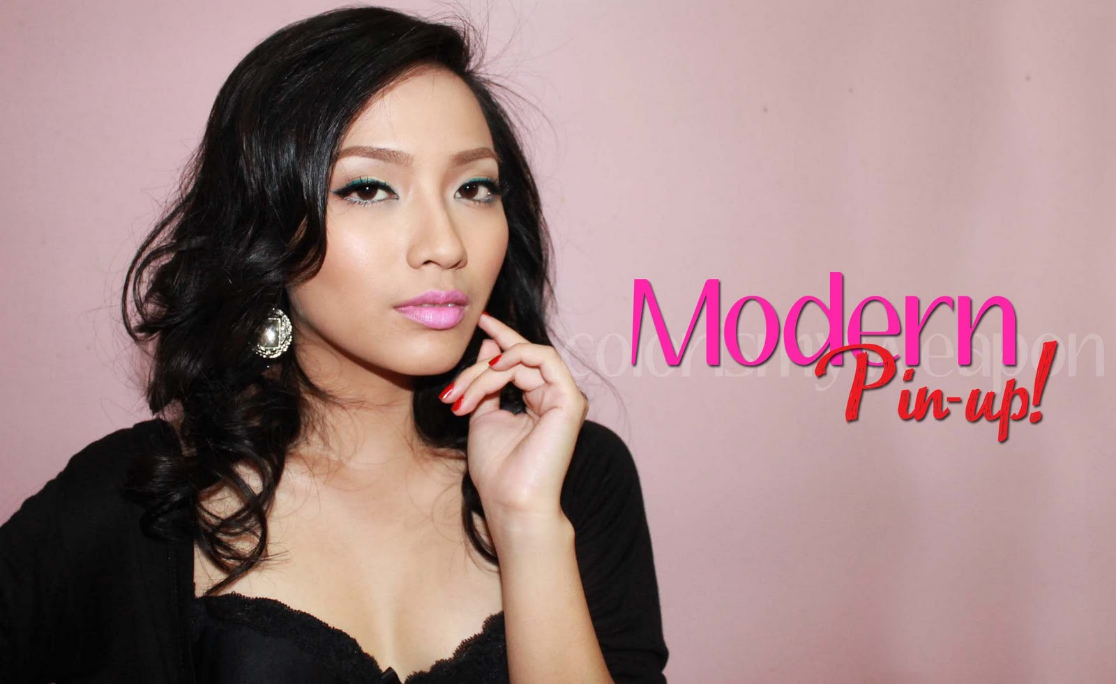 colorismyweapon by noe mae beauty videos hair care reviews girly chitchat modern pin up look. Black Bedroom Furniture Sets. Home Design Ideas