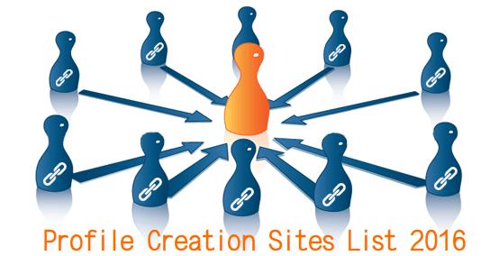 Free Backlinks Sites List | Profile Creation Sites List 2016