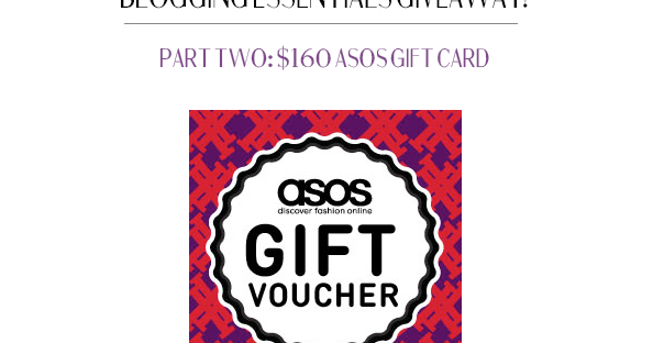 The Freckled Fox Blogging Essentials Giveaway Part Ii Asos Gift Card