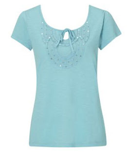 Embroidered Round neck tops