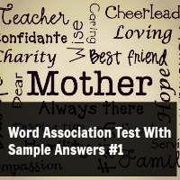 Word Association Test With Sample Answers #1