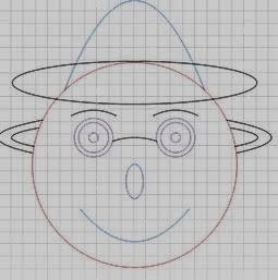 Happy Face created using math formulas on Des-man