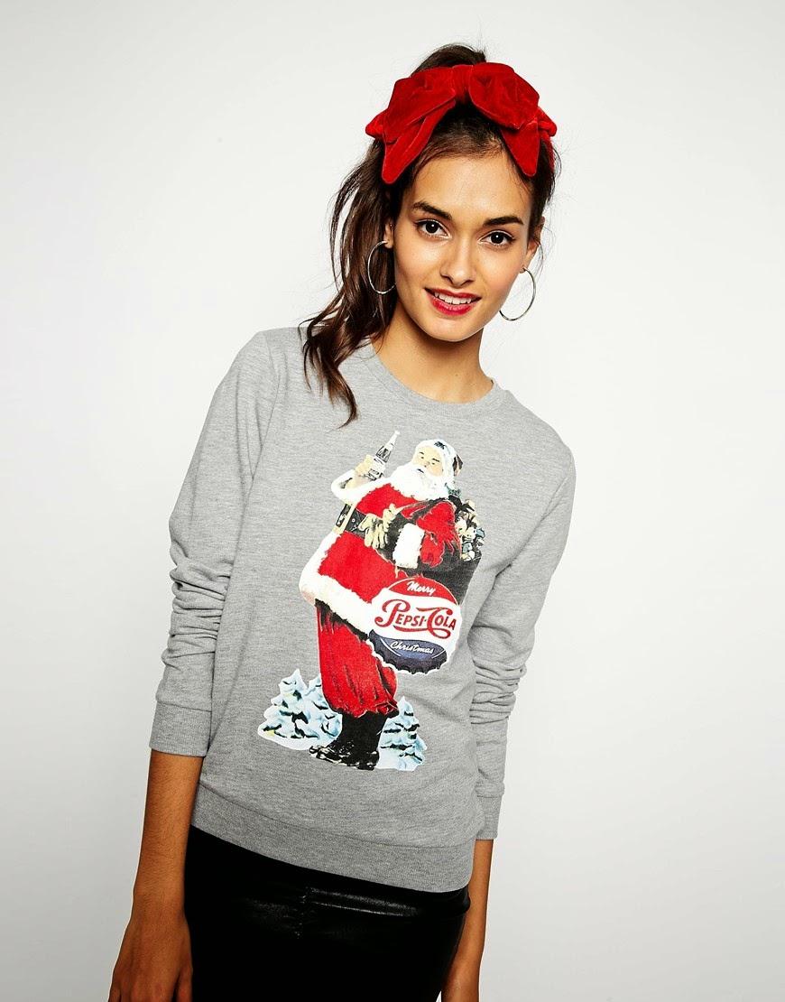 pepsi santa jumper, coca cola santa jumper, coca cola christmas jumper,