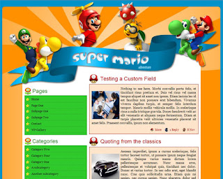 Super Mario Adventure WordPress Theme