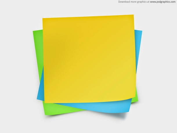Paper Notes Template PSD