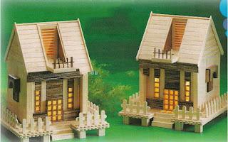 Membuat Rumah Mainan Dari Stik Es Krim