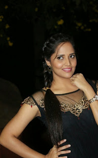 Anasuya Picture Gallery in Black Dress at Ee Varsham Sakshiga Movie Audio Launch    ~ Bollywood and South Indian Cinema Actress Exclusive Picture Galleries