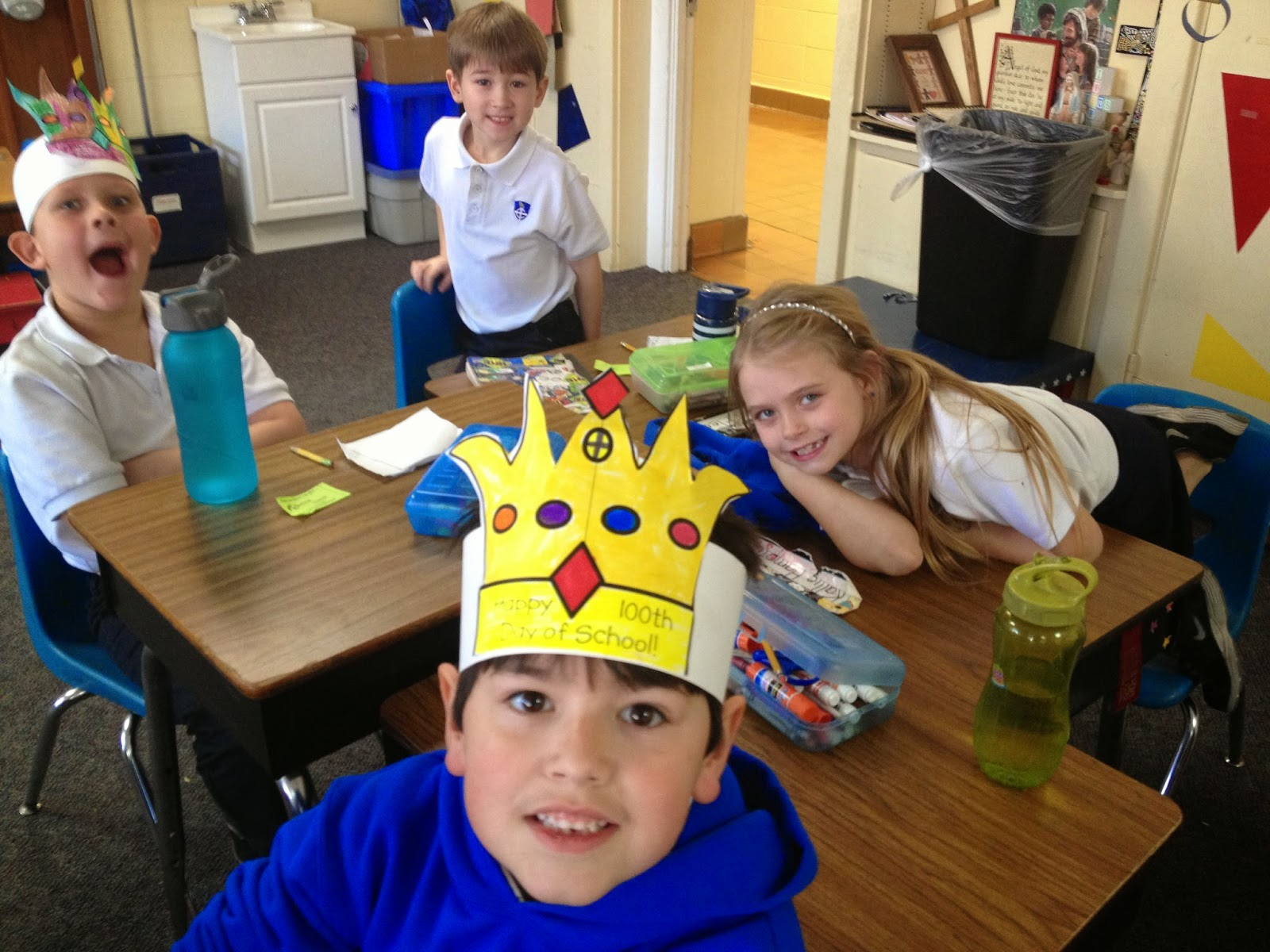 MONTGOMERY CATHOLIC'S ST. BEDE CAMPUS CELEBRATES THE 100TH DAY OF SCHOOL IN CREATIVE WAYS. 1