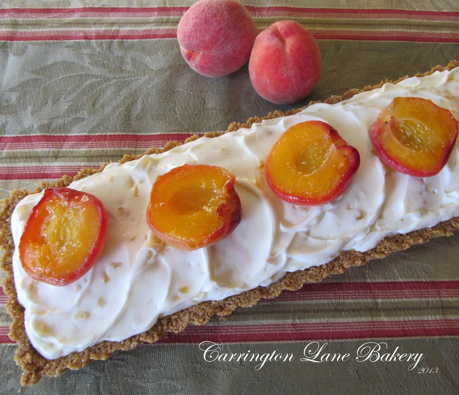 Carrington Lane Bakery: Mascarpone and Peach Tart