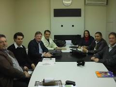 José Antonio Simão Rodrigues junto com Fundacentro e Milene Rodrigues visitam a empresa Tecnitubo.