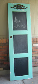 Teal Chalkboard Door (SOLD)