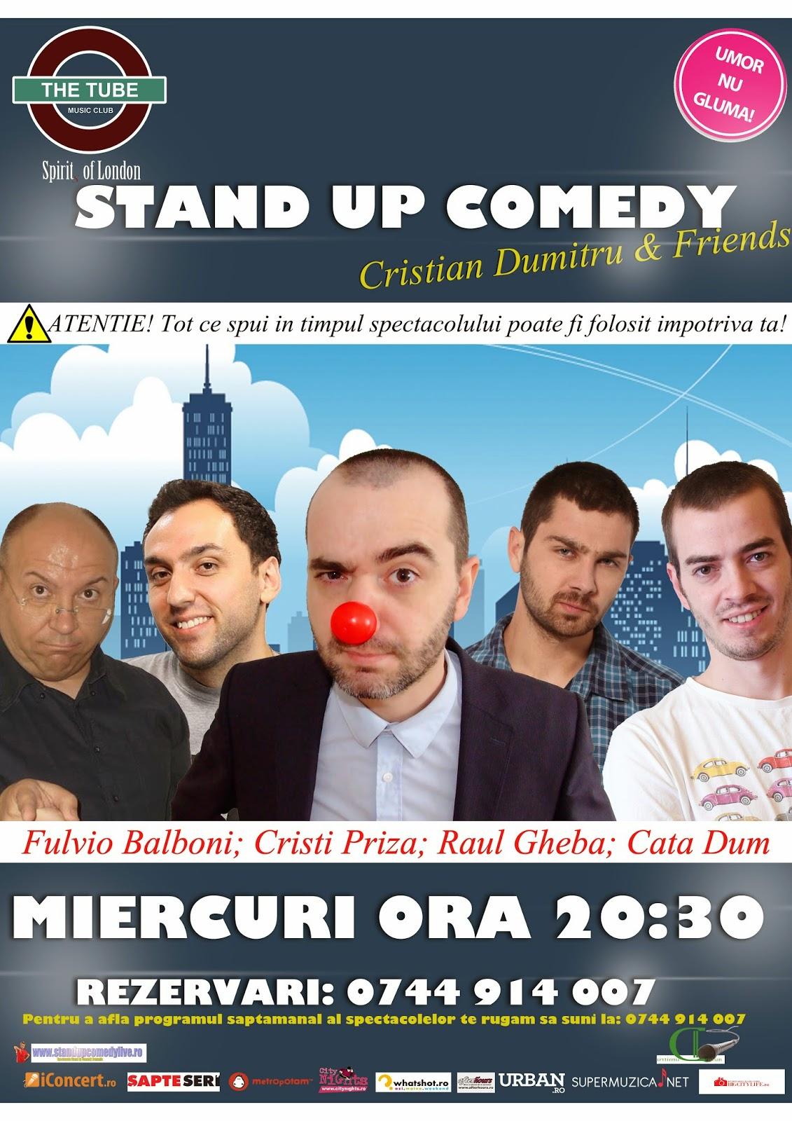 stand-up comedy miercuri bucuresti romania