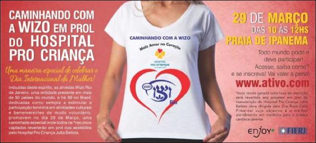 Caminhando com a Wizo em Prol do Hospital Pro Criança Jutta Batista