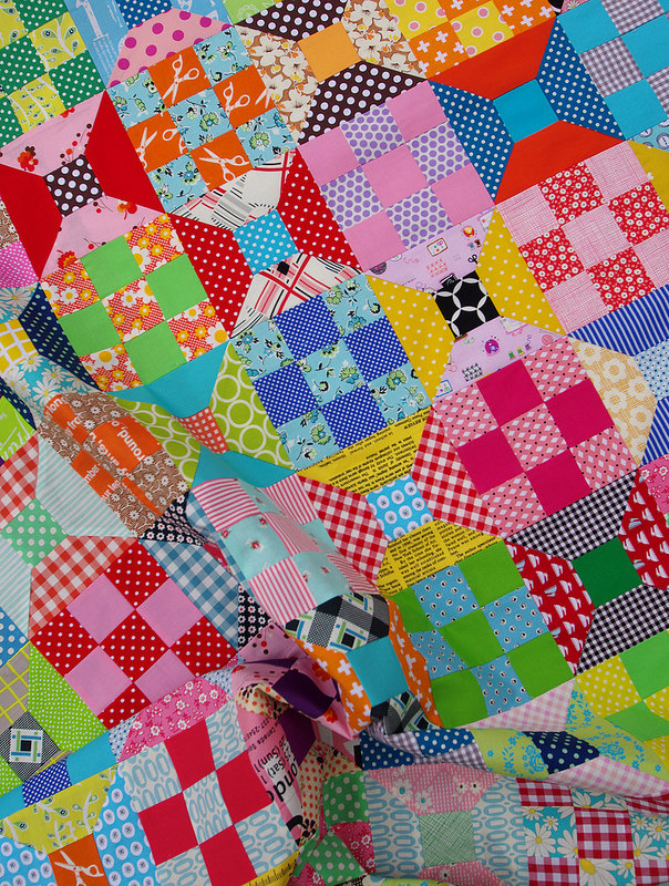 Spools and 9 Patches - work in progress | Red Pepper Quilts