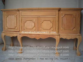 klasik furniture chippendale buffet mahoni chippendale unfinished furniture cabinet supplier mebel chippendale mahoni mentah unfinished