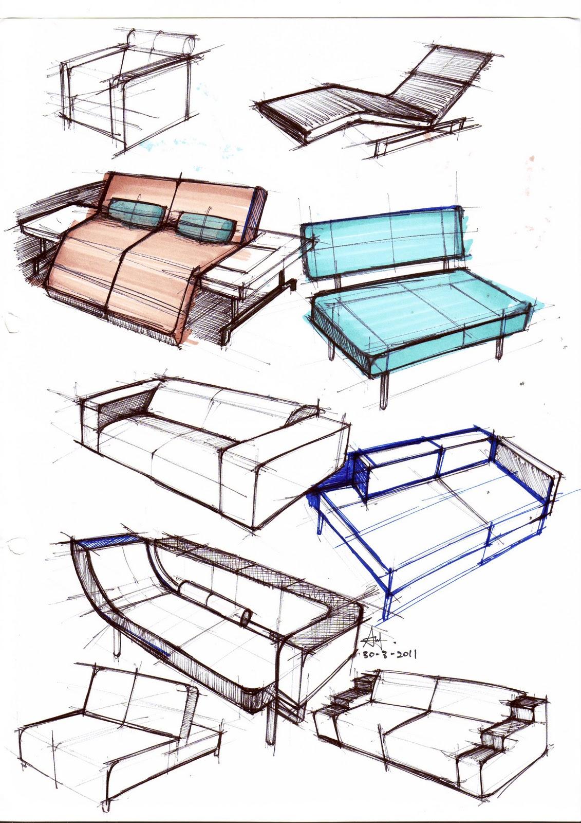 Furniture Design Sketch : AnthonyLau X Create Outline: Furniture_design_sketch Practise