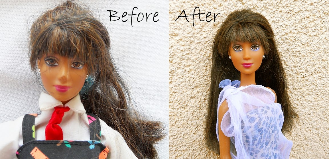 Detangle doll hair