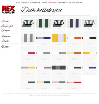 Hjemmesider til REX Markiser
