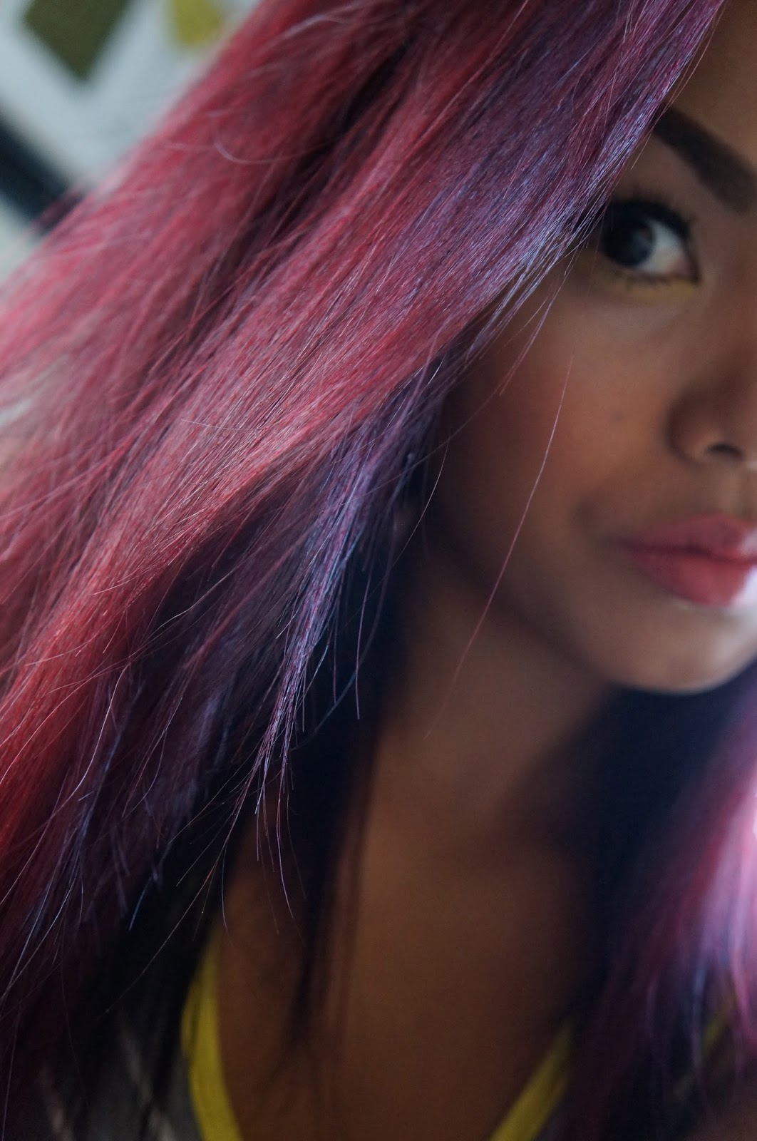 Teaseblendglam BeautyFashionDIY Ampamp More MY Burgundy  Plum Hair