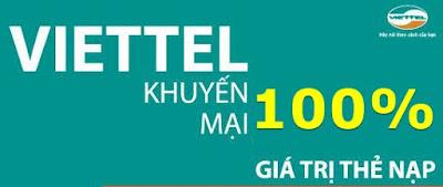 Chương trình khuyến mãi 100% của Viettel ngày 17/8 đến 19/8