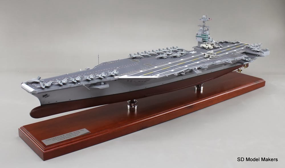 47 u201d uss gerald r  ford aircraft carrier model  u2013 the navy u2019s