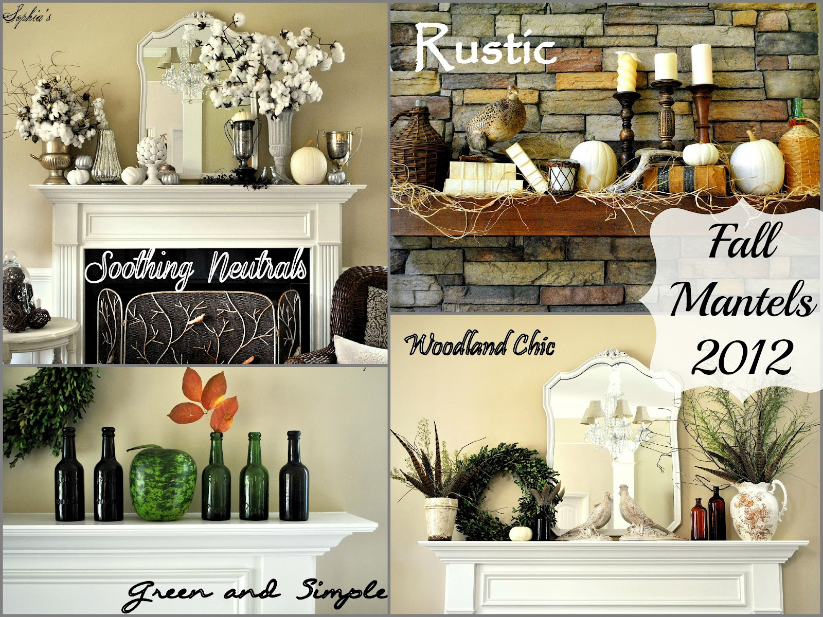My Fall Mantels 2012