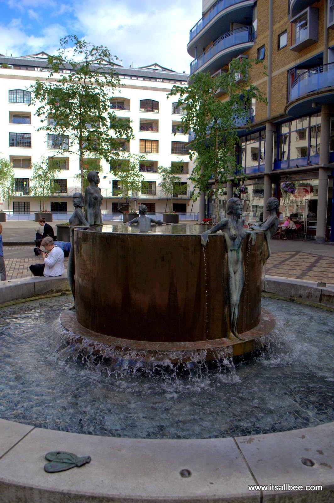 Bathing Beauties on Butler's Wharf - london tower bridge