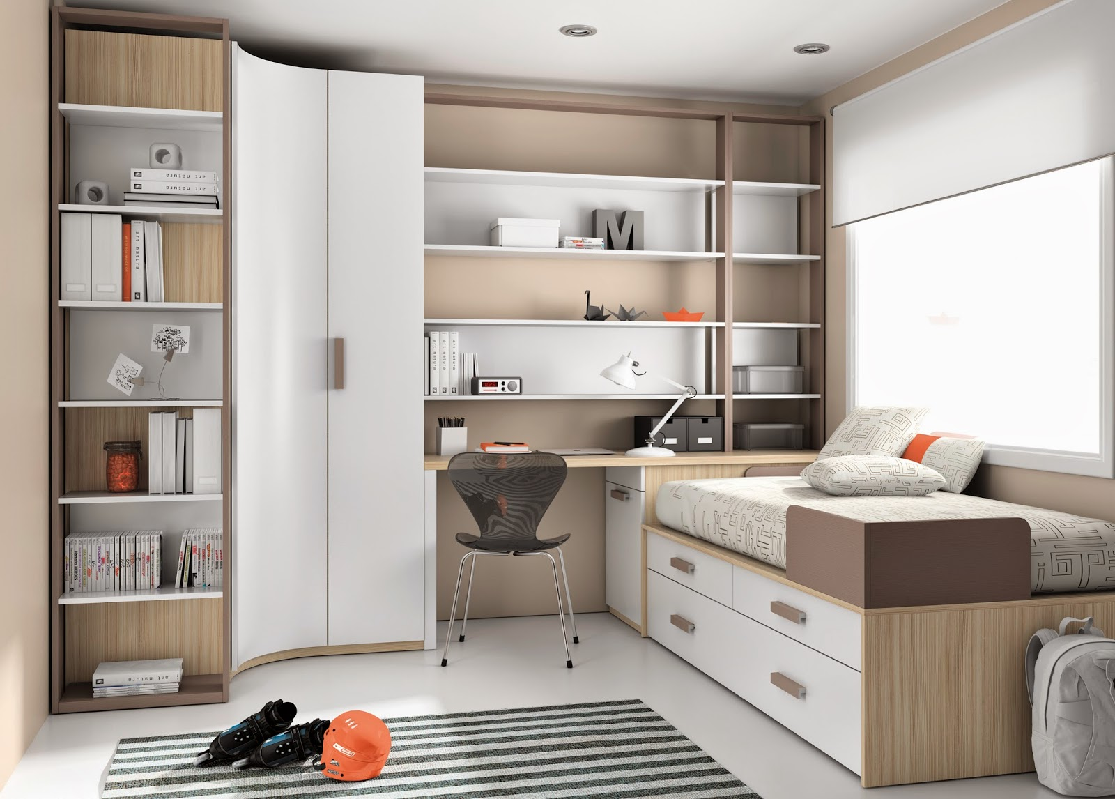 Teenagers and their study area - Muebles modulares dormitorio ...