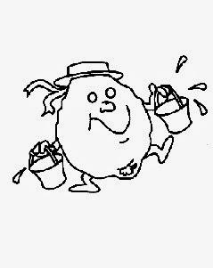 desenho de fruta com rostinho para pintar em semaninha pano de prato