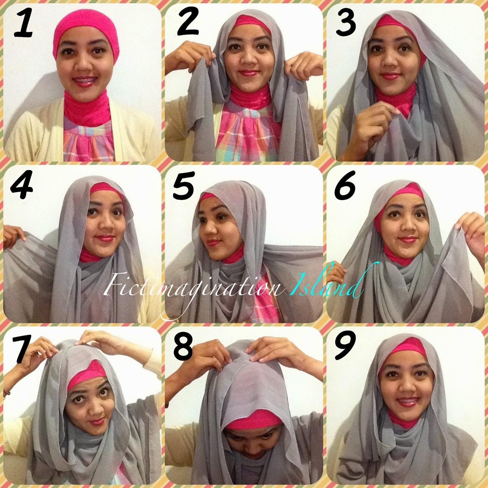 Cara Memakai Jilbab Syar'i Modis   Cara Memakai Jilbab Tutorial Hijab