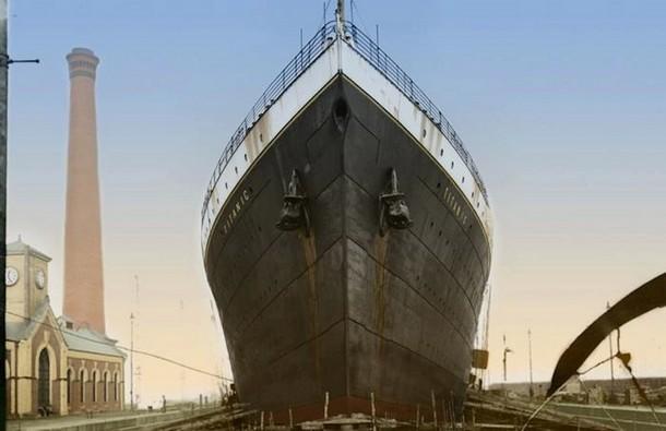 Specially Build Slipways for the Titanic