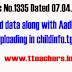 Rc.No.1335 Collect child data along with Aadhar Number and Uploading in the Website