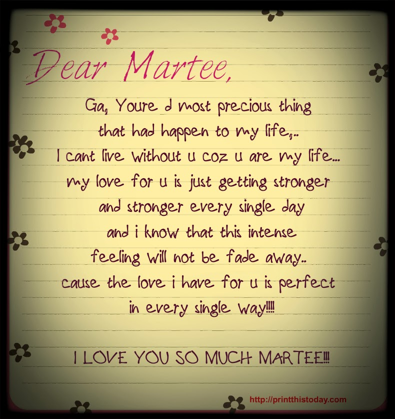 vavalicious love letters for you my love