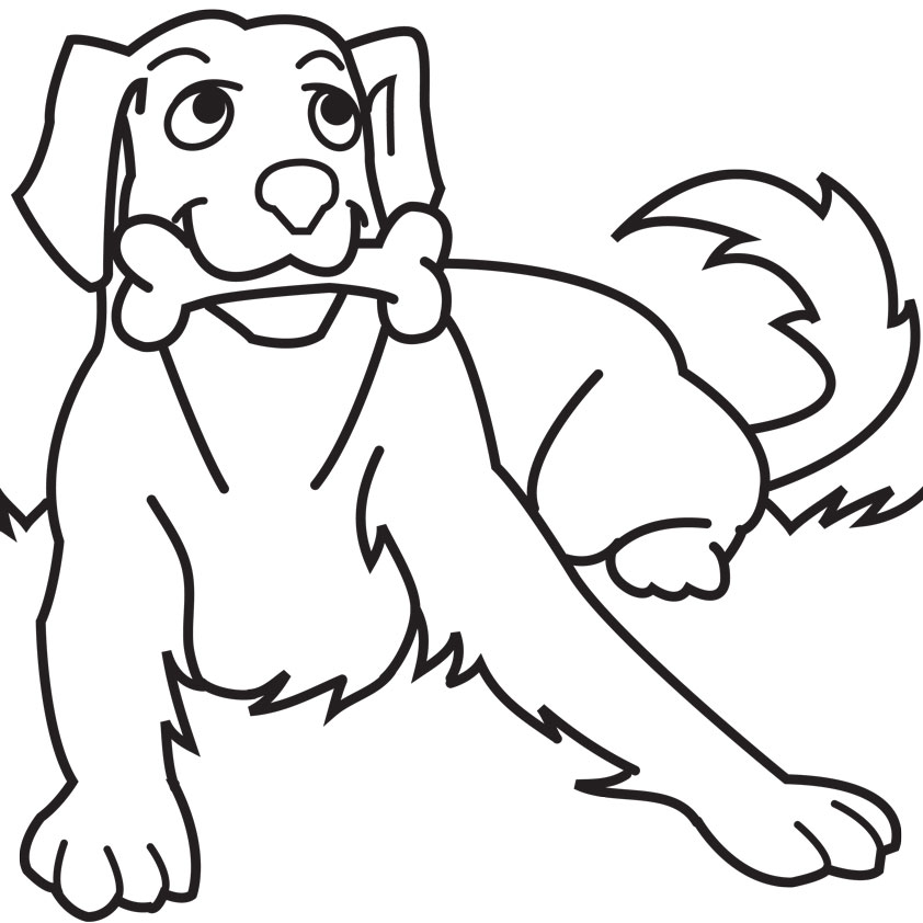 Cute dogs coloring pages