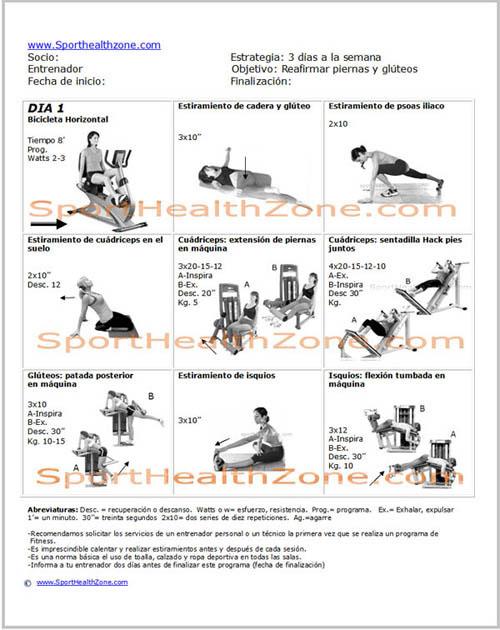 ejercicios de tonificacion con pesas: