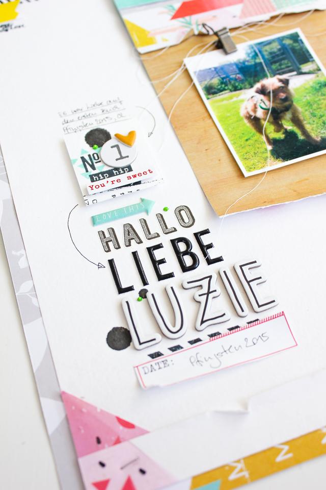 Text Cluster auf einer Scrapbooking Seite | Janna Werner | Pinkfresh Studio