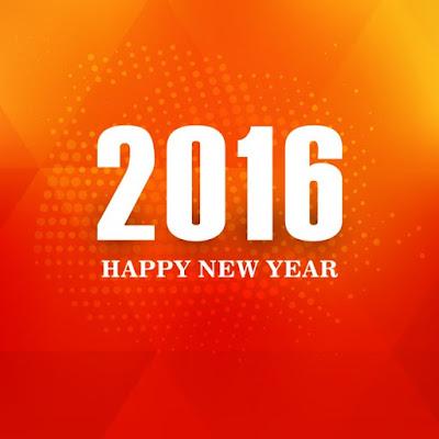 cartão de ano novo 2016
