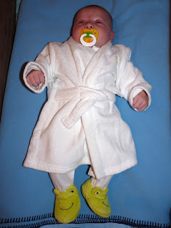 Freddie in his Dressing Gown