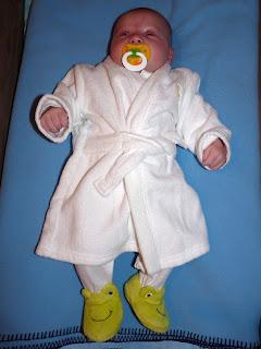 Freddie in his Dressing Gown