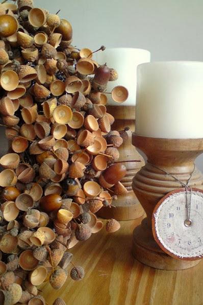 wianek jesienny DIY z żołędzi 10 pomysłów na jesienne wianki