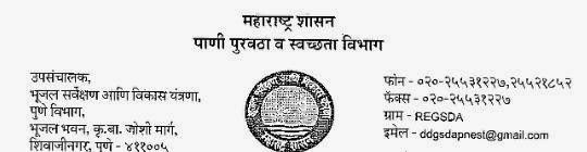 Bhujal Sarvekshan Pune Result, Final List