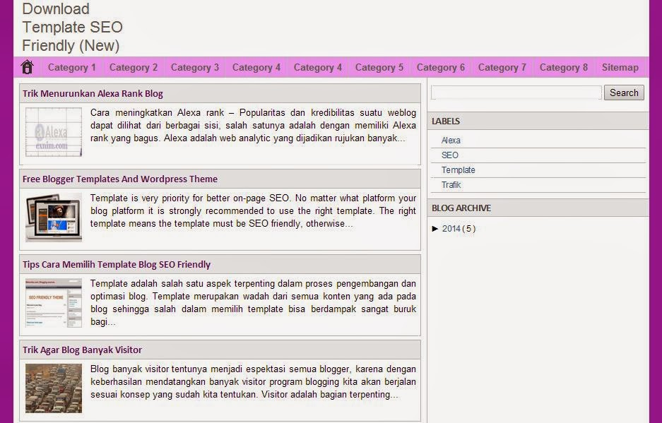 Download Template Blogspot SEO Friendly Gratis