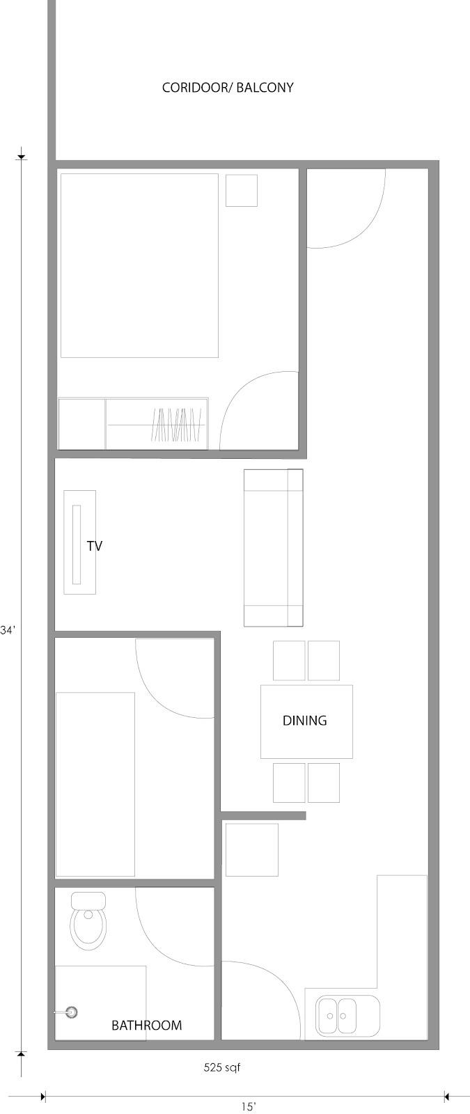 plan cadangan rekaan rumah teres kampung (click for enlarge)