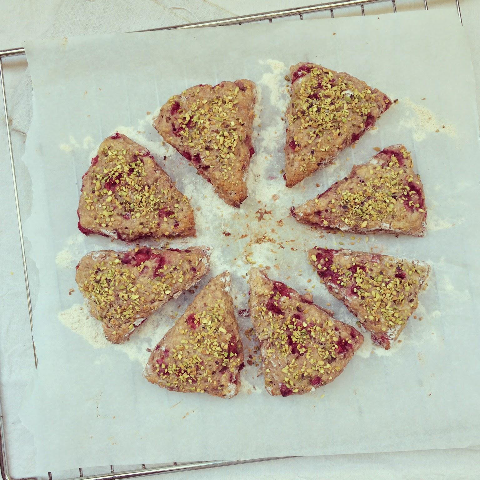 scones groseilles pistaches beurre de cacahuètes